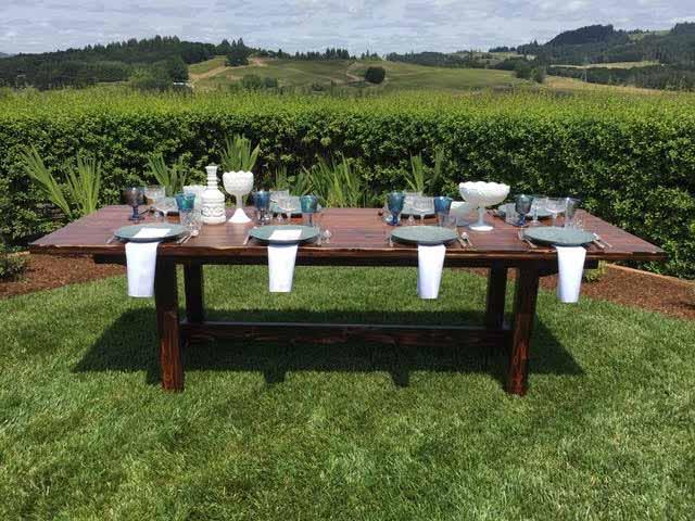 Table set outside